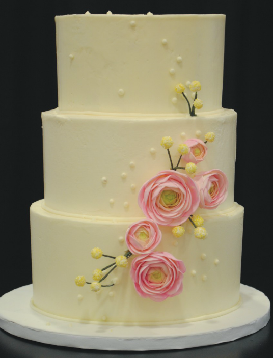 Custom 3-tier wedding cake. Kick Ass Kakes, Phoenix, Arizona. http ...