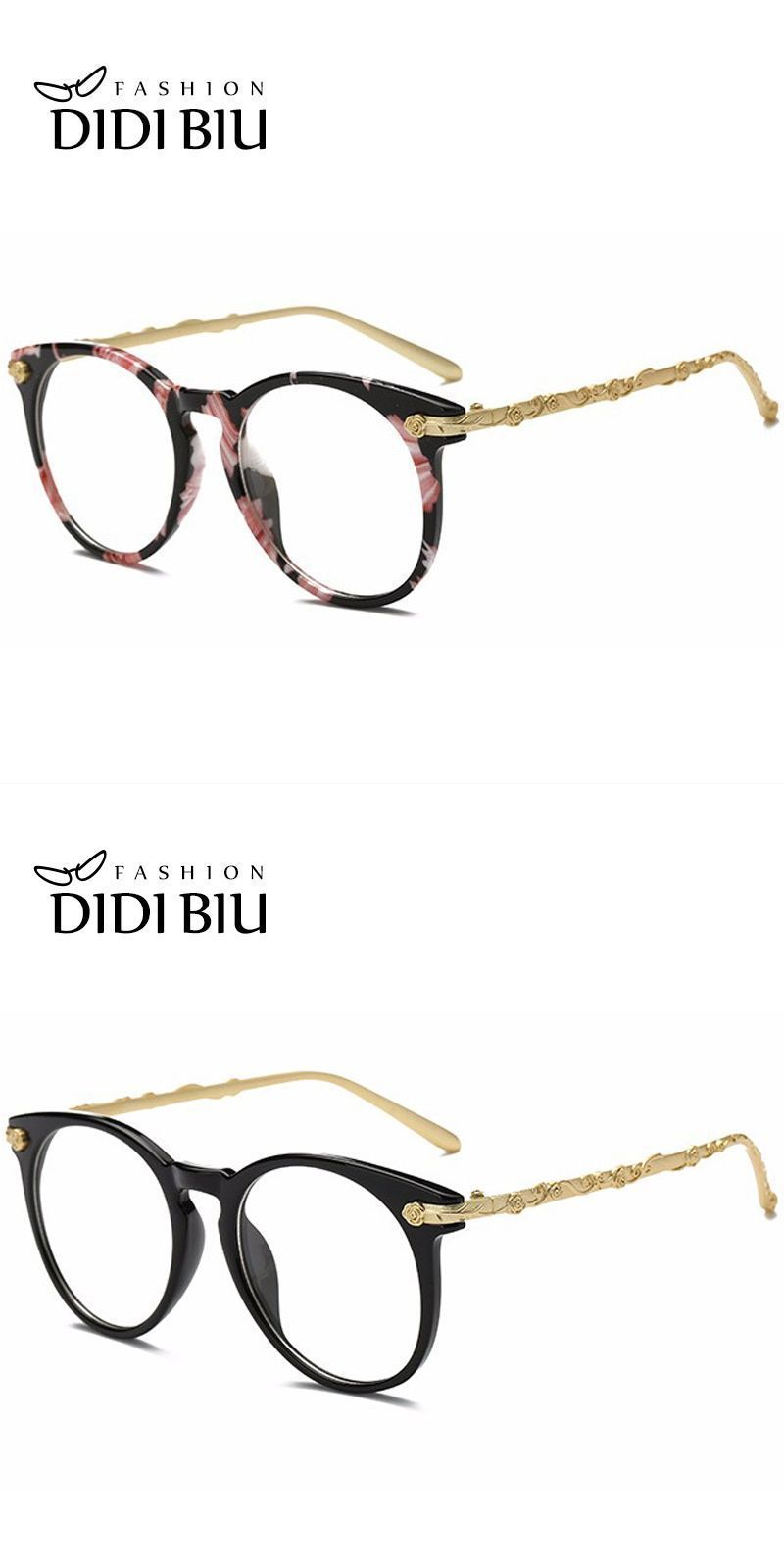 2cca7b8547c Didi top grace flower eyeglass women luxury brand gold rose carved optical  frame clear lens round