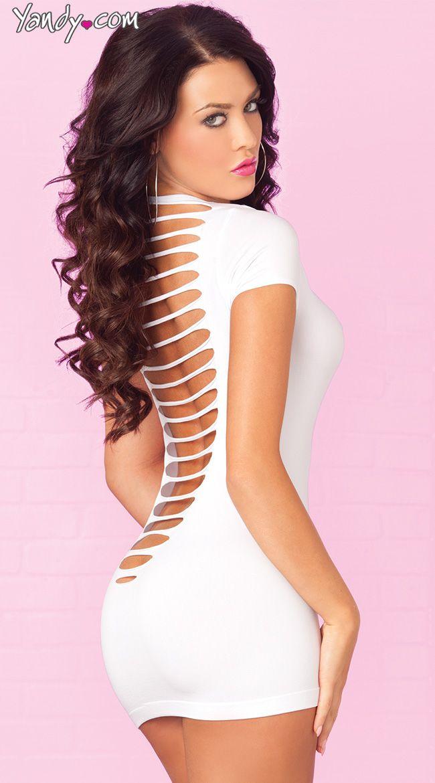 Party In The Back Mini Dress   Vestidos cortos, Vestidos blancos y ...
