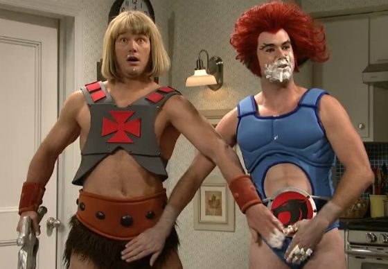 Watch He-Man and Lion-O come to life