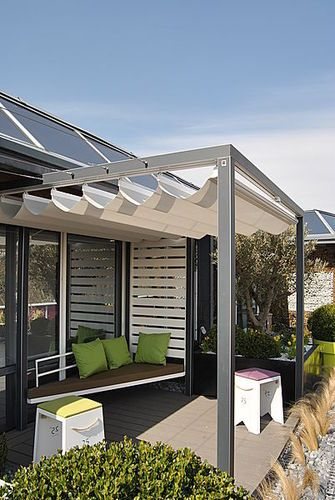 pergola en aluminium couverture coulissante en toile pergola velum microperfore archiexpo. Black Bedroom Furniture Sets. Home Design Ideas