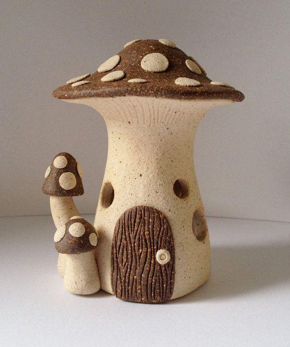 ceramic fairy houses에 대한 이미지 검색결과  조명등  Pinterest  화분 ...
