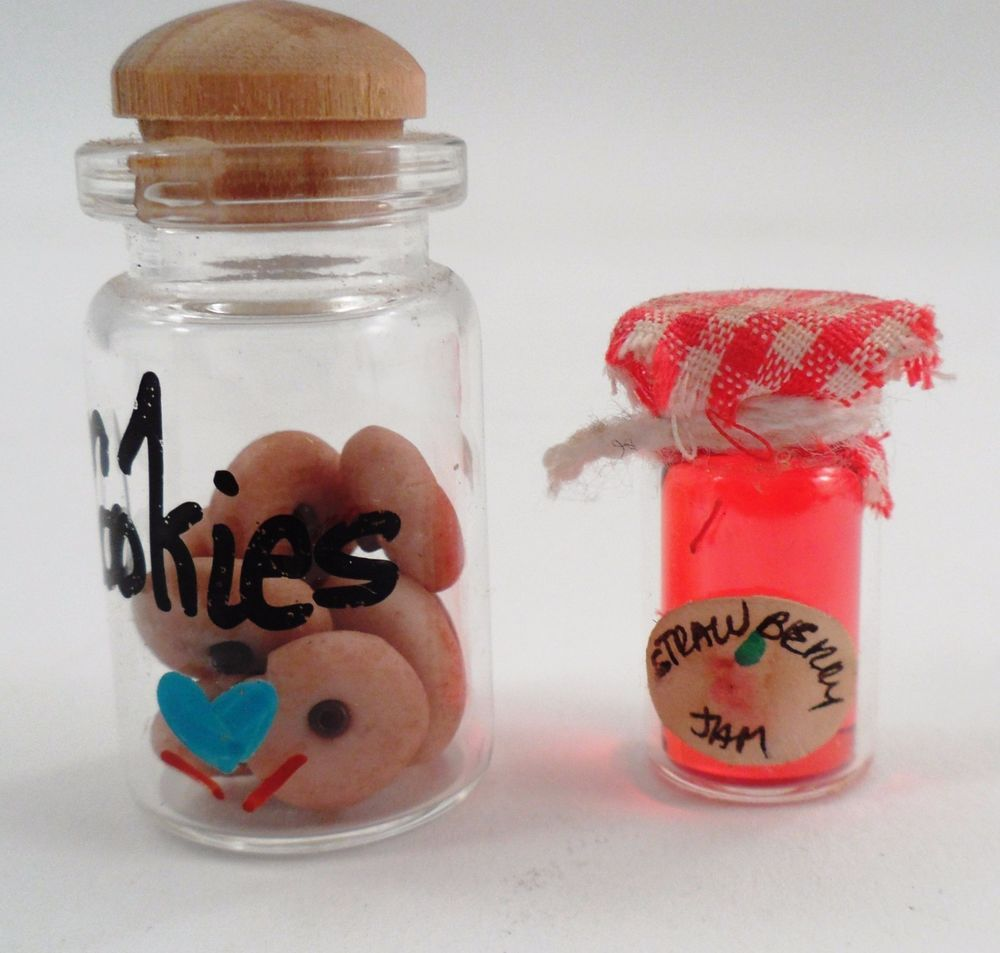 Dollhouse Miniature Cookie Jar w Cookies Homemade