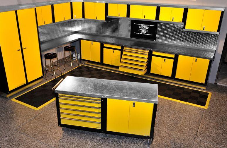 The Ultimate Garage Workshop | Steel workbench, Upper ...