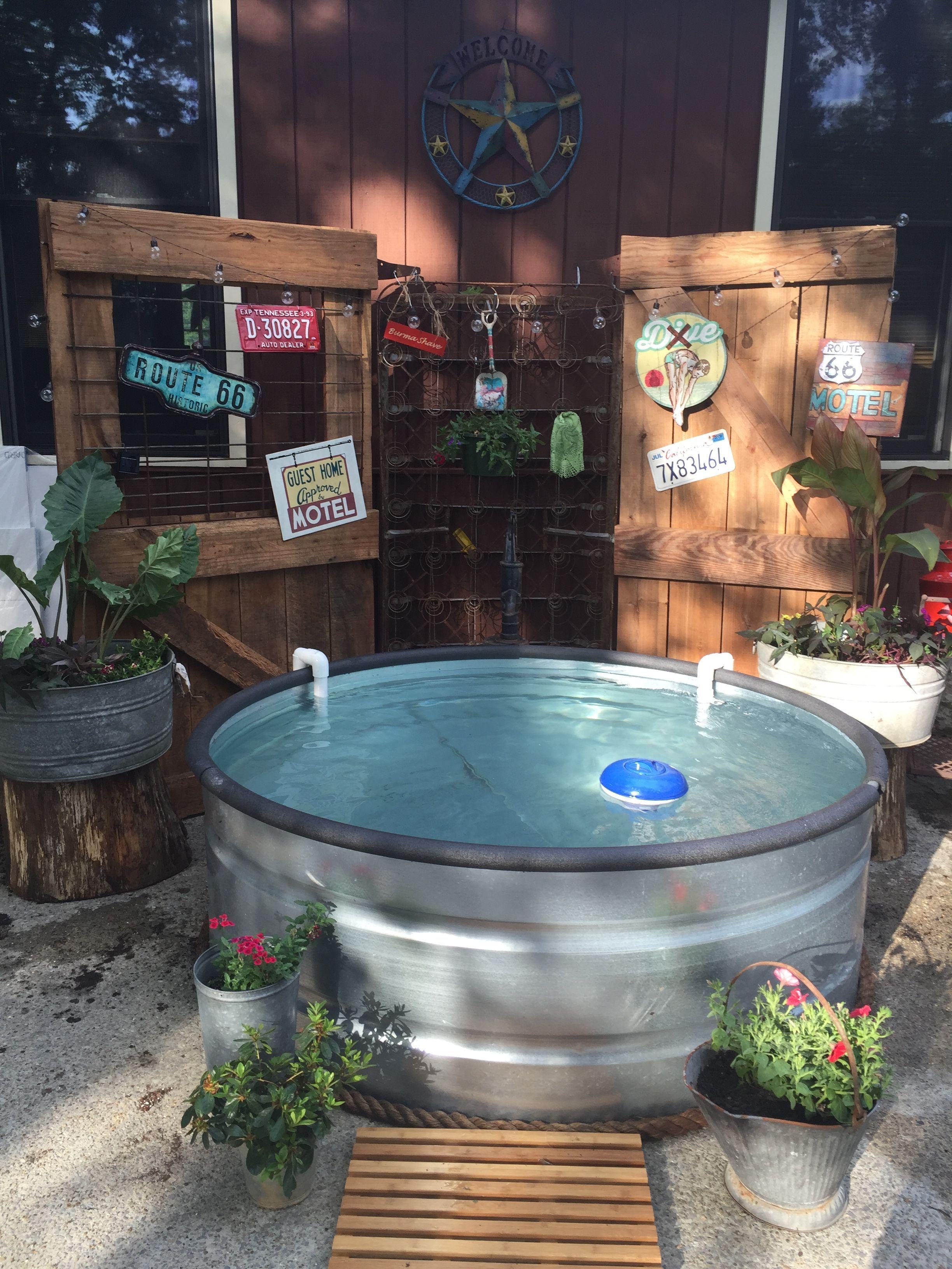 DIY Galvanized Stock Tank Pool to Beat The Summer Heat