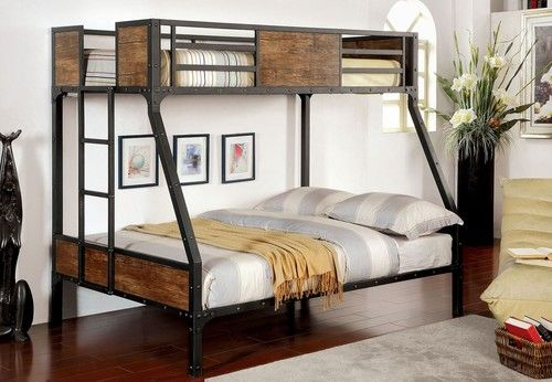 Furniture Of America Clapton Twin Over Full Bunk Bed Cm