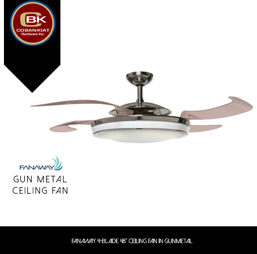 Keep Cool In Any Space With A Ceiling Fan From Fanaway Its Gunmetal Finish Is Perfect For Any Contemporary Themed Home Ceiling Fan Metal Ceiling Hardware