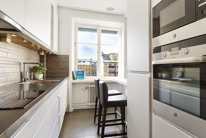Long Narrow Kitchen Ideas Long Narrow Kitchen With Dining Area