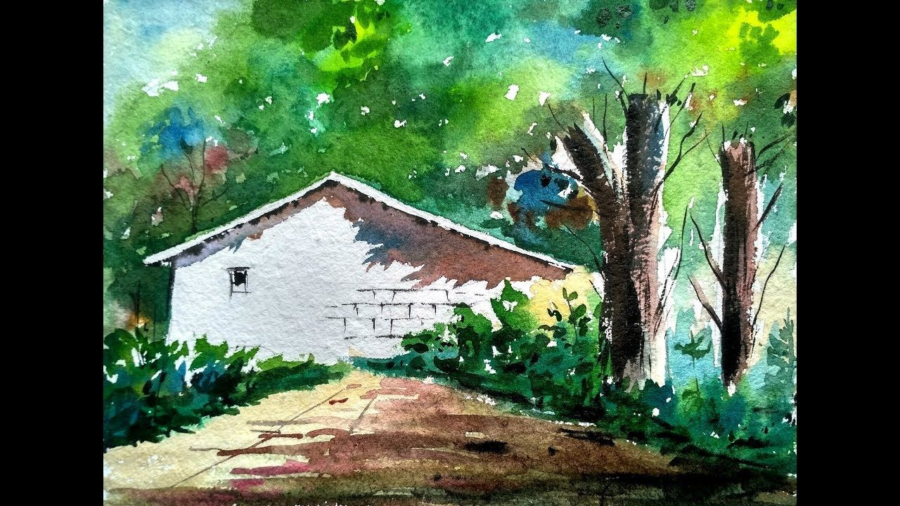 Light And Shadow Watercolor Landscape Painting Paint With David Youtube