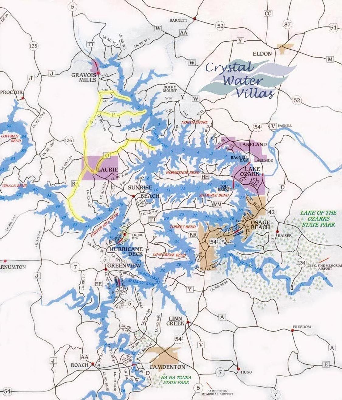 Lake Of The Ozarks Mile Marker Map Image result for map of lake of the ozarks with mile markers