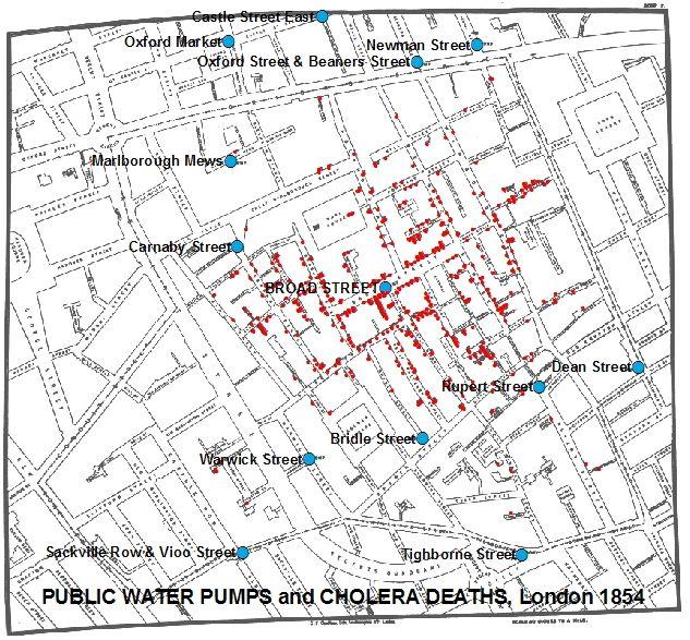 Gis Analysis Of Snow S London Cholera Map Map London John Snow