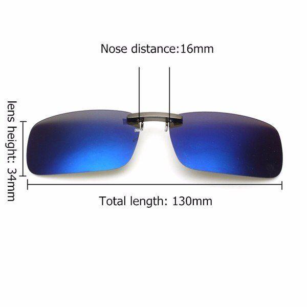 1ed151b80a Men Polarized Clip On Sunglasses Lens Fishing Night Driving UV400 Eyewear  Lens
