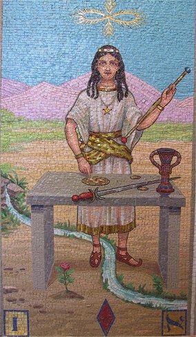 The Magician - lames du Tarot (mosaic)