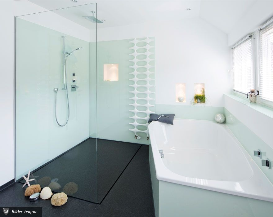 Granit als Bodenbelag in der Dusche | Badrum | Modernes design ...