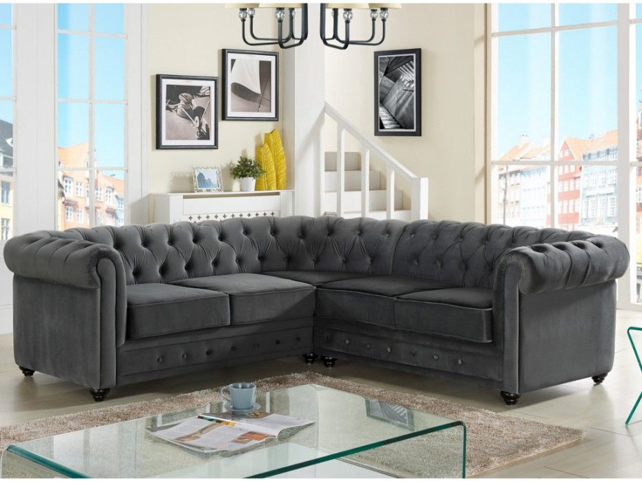velours anthracite chesterfield