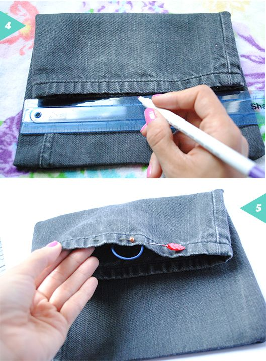 Recycled denim pouch bag {DIY} | Jessica Rebelo Visual Designer