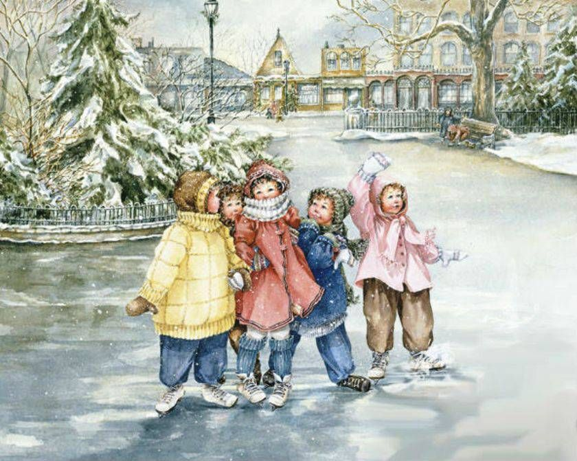 Дети на прогулке открытки, открытки