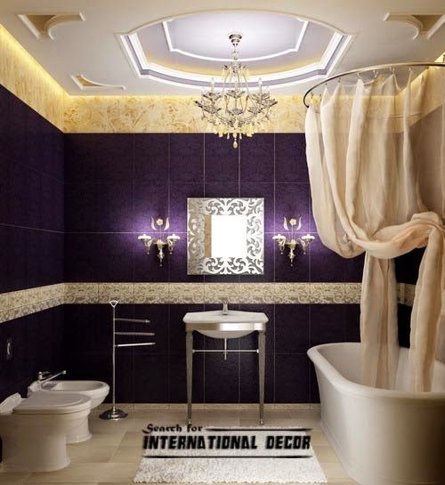 False Ceiling Pop Designs For Luxury Bathroom Ceiling Ideas In