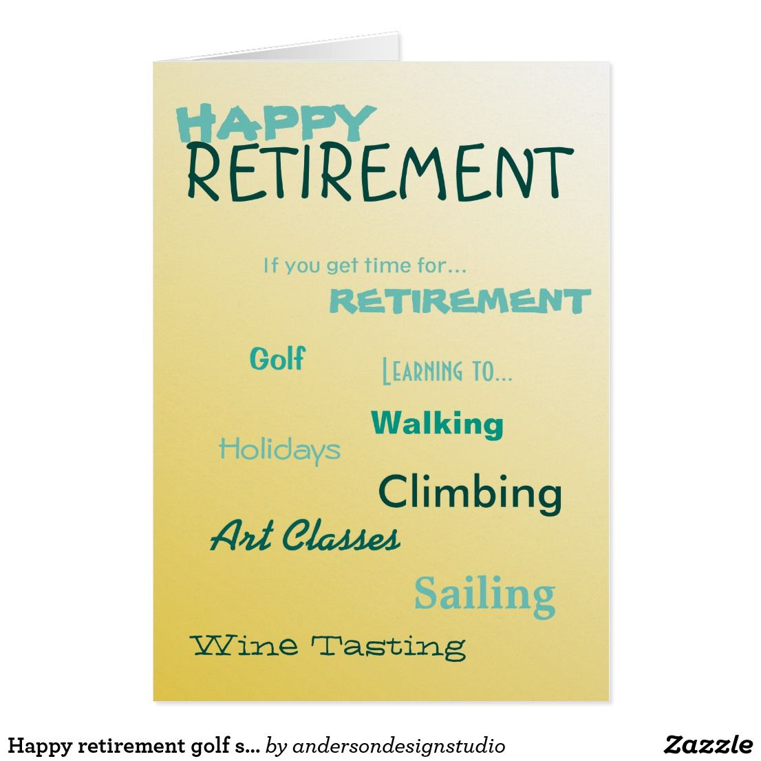 Happy Retirement Golf Sailing Holidays Wishing You Holiday