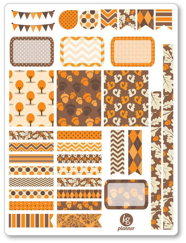 Autumn Mood Decorating Kit / Weekly Spread Planner Stickers for Erin ...