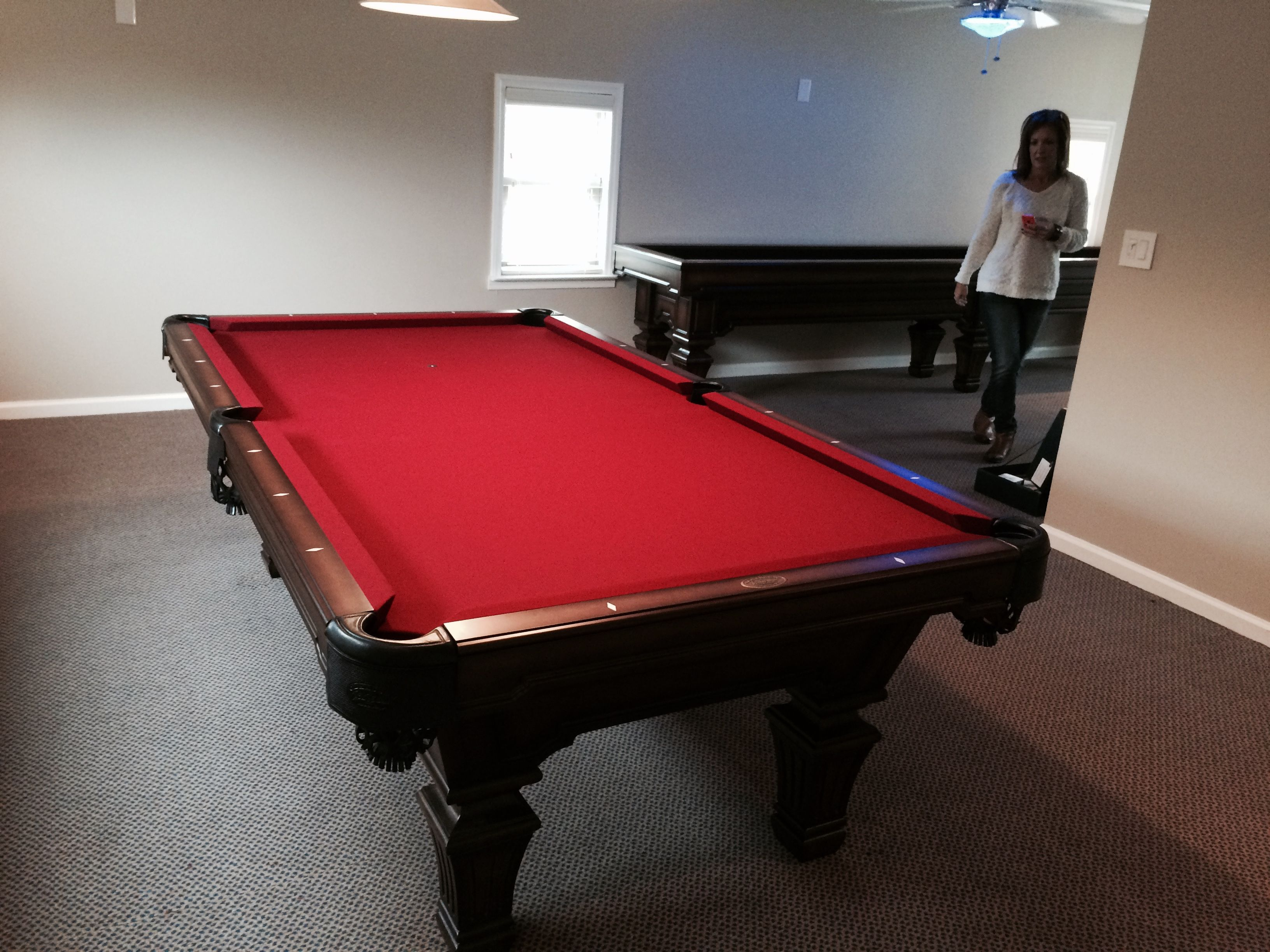 Olhausen Hampton Pool Table And Matching Shuffleboard From - Olhausen hampton pool table