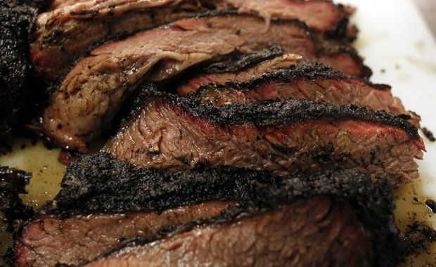 Pecan Lodge (Dallas Farmers Market) Pitmaster shows his technique for smoking brisket - no real secrets, but good to see.