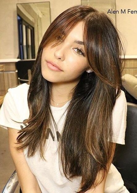 madison beer with bangs bangs for round face inspiration