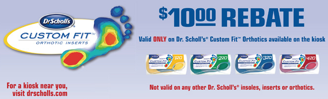 picture relating to Dr Scholls Inserts Coupons Printable named $10 Dr Scholls Personalized In shape Orthodetics Increase Rebate Sort