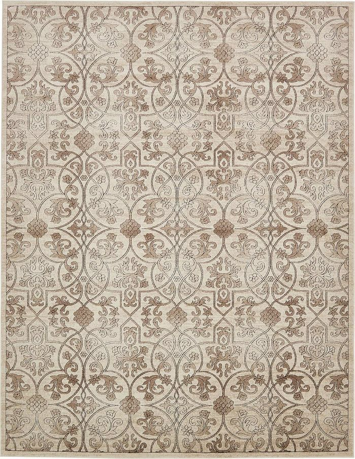 Mathieu Dark Beige Brown Area Rug