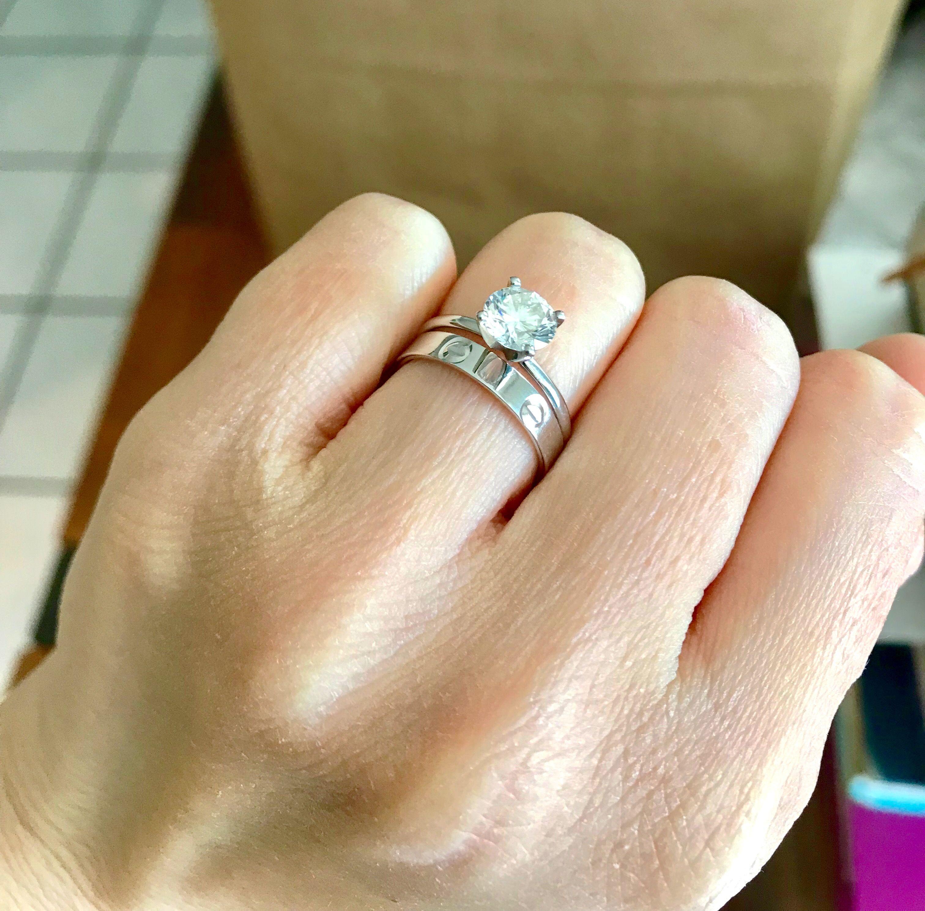 Platinum Diamond Solitaire Ring Cartier Wedding Band Cartier Wedding Bands Wedding Ring Bands Cartier Love Wedding Band
