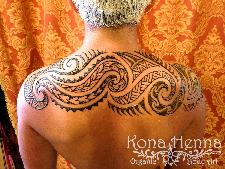 Polynesian Henna Tattoo: Polynesian Tribal Back By