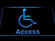 i1050-b Disabled Handicap Wheelchair Accessible Access Display Neon Light Sign