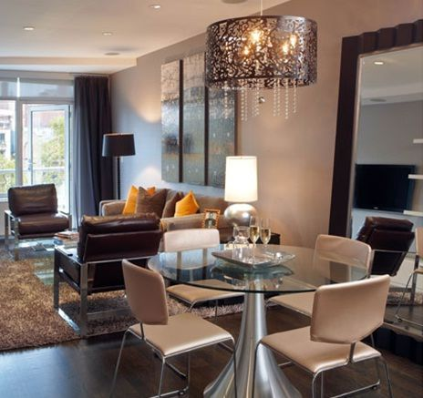 Ideas de como decorar y organizar espacios peque os for Comedores para apartamentos pequenos
