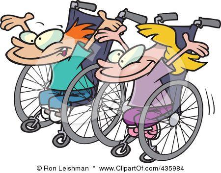 Wheelchair Races Wheelchair Cartoon People Clip Art Pictures