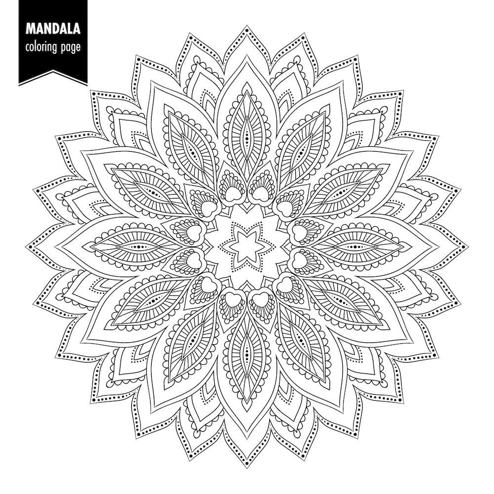 Dibujar Mandalas Online Mandalas Para Colorear Dibujos Con