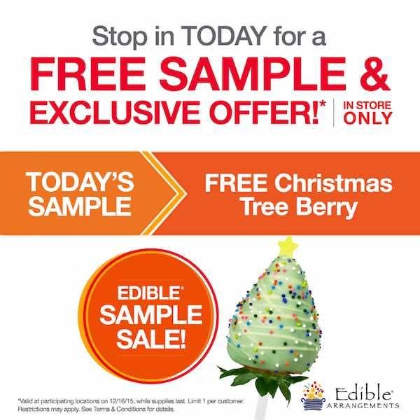 Edible Arrangements Free Christmas Tree Berry Edible