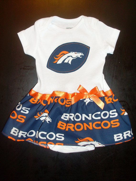 Denver Broncos Inspired Baby Dress by SportyBabes on Etsy | Broncos ...