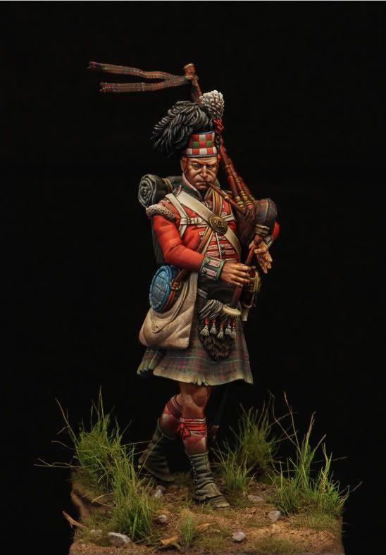 Completed - Scottish Piper Pegaso 75mm | planetFigure | Miniatures