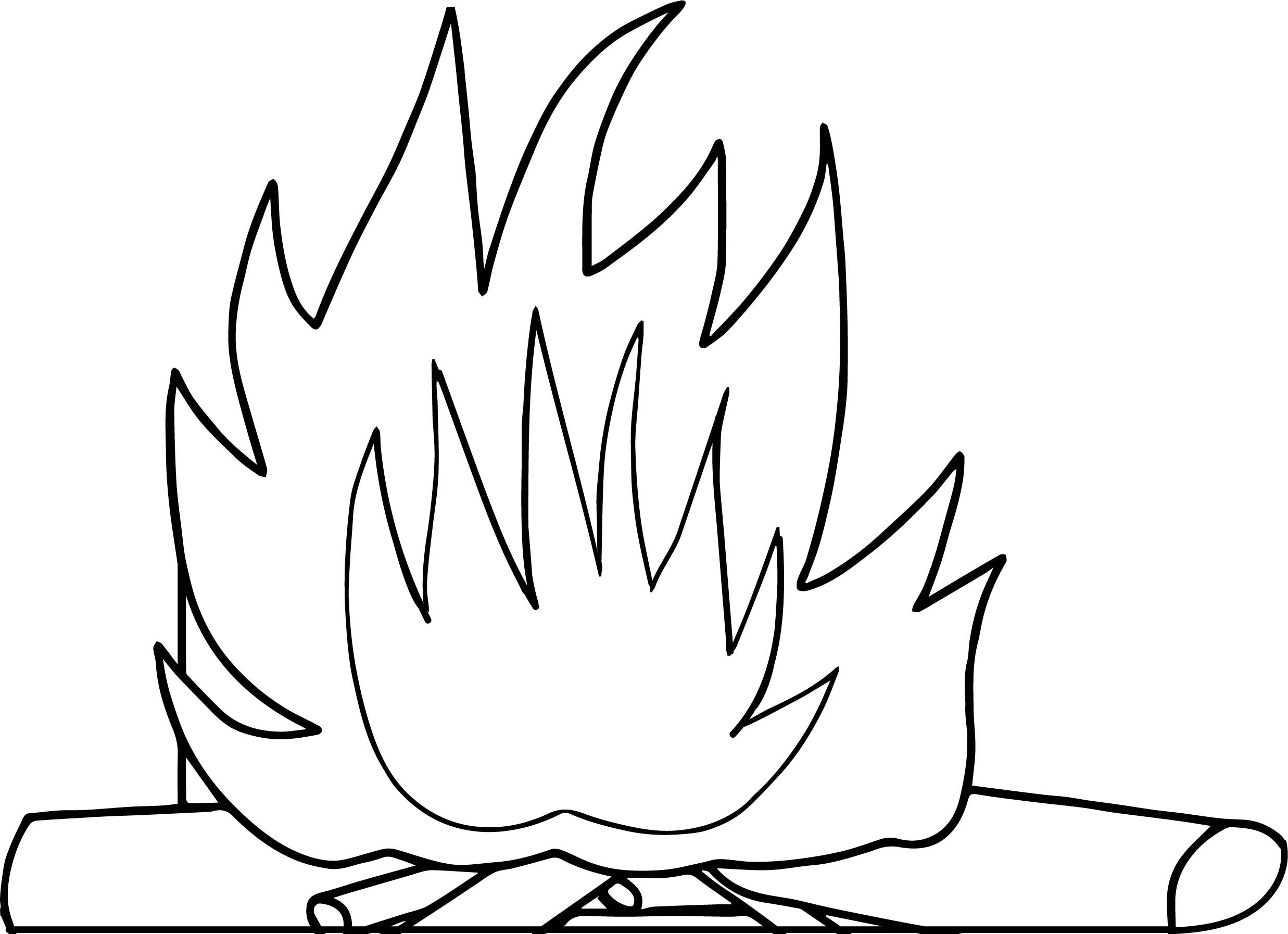 Cool Fire With Logs Camping Coloring Page Camping Coloring Pages Coloring Pages Coloring Pages For Kids