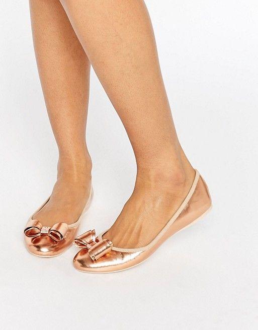 413eeaadfe67b8 Ted Baker Immet Rose Gold Ballet Flats Ted Baker Shoes