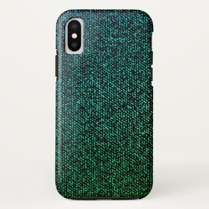 Blue Jeans Texture (green) iPhone X Case hair stylist