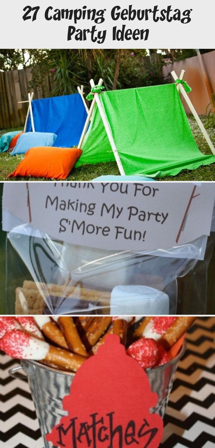 27 Camping Geburtstag Party In 2020 Mit Bildern Geburtstag