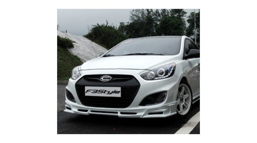 F3style Front And Side Body Kit For Hyundai Accent 2010 13 Mnr