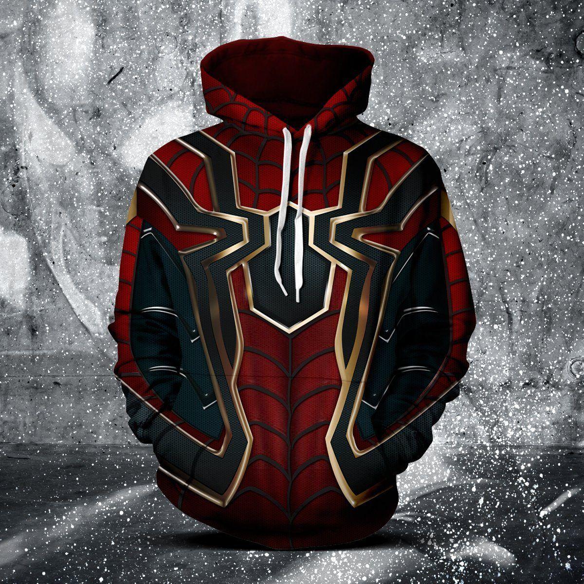 Spider Man Infinity War Unisex Hoodie Spiderman Hoodie Marvel Clothes Unisex Hoodies [ 1200 x 1200 Pixel ]