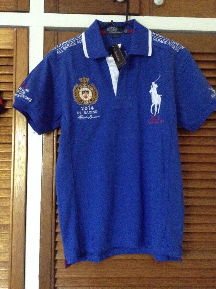 Brand New Ralph Lauren Polo- Shirt Big Pony FRANCE Size: L