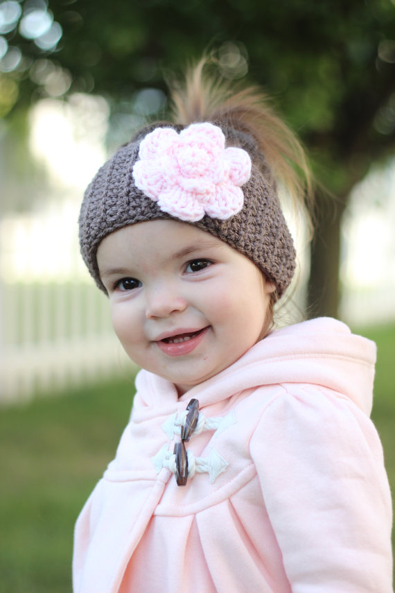 Baby Head Warmer Crochet Child Head Warmer Taupe Head | solyci ...