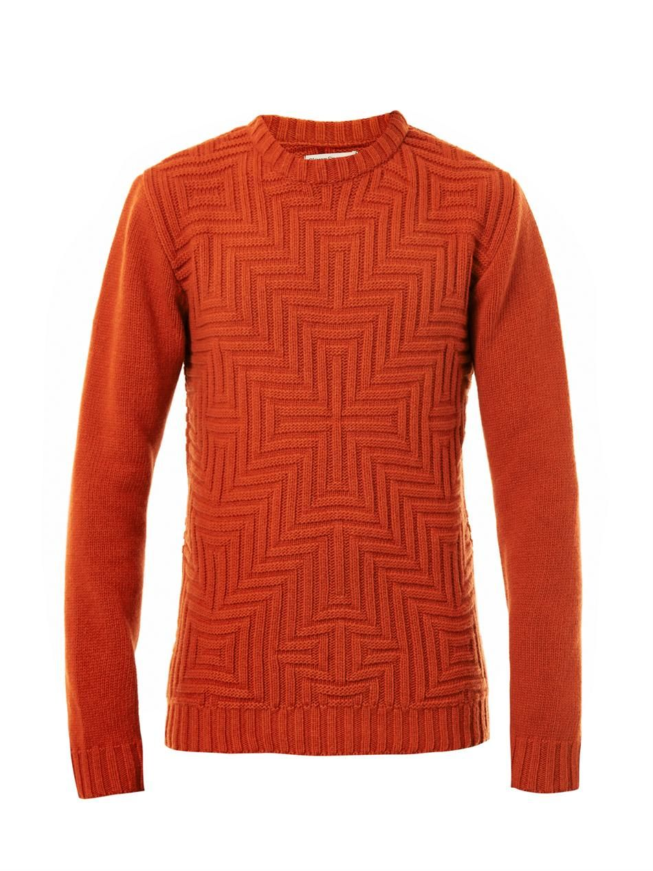David geometric-weave sweater | Oliver Spencer | MATCHESFASHIO ...