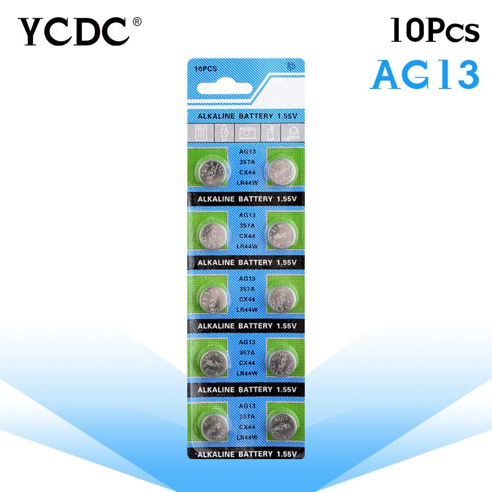 c69c35533f36ec YCDC 3.28 Grande Promotion 10 Pcs 1 carte AG13 Pile Bouton Batteries Gros  SR1154 LR44 SR44 357 1.55 V A76 H Taille 11.6 5mm