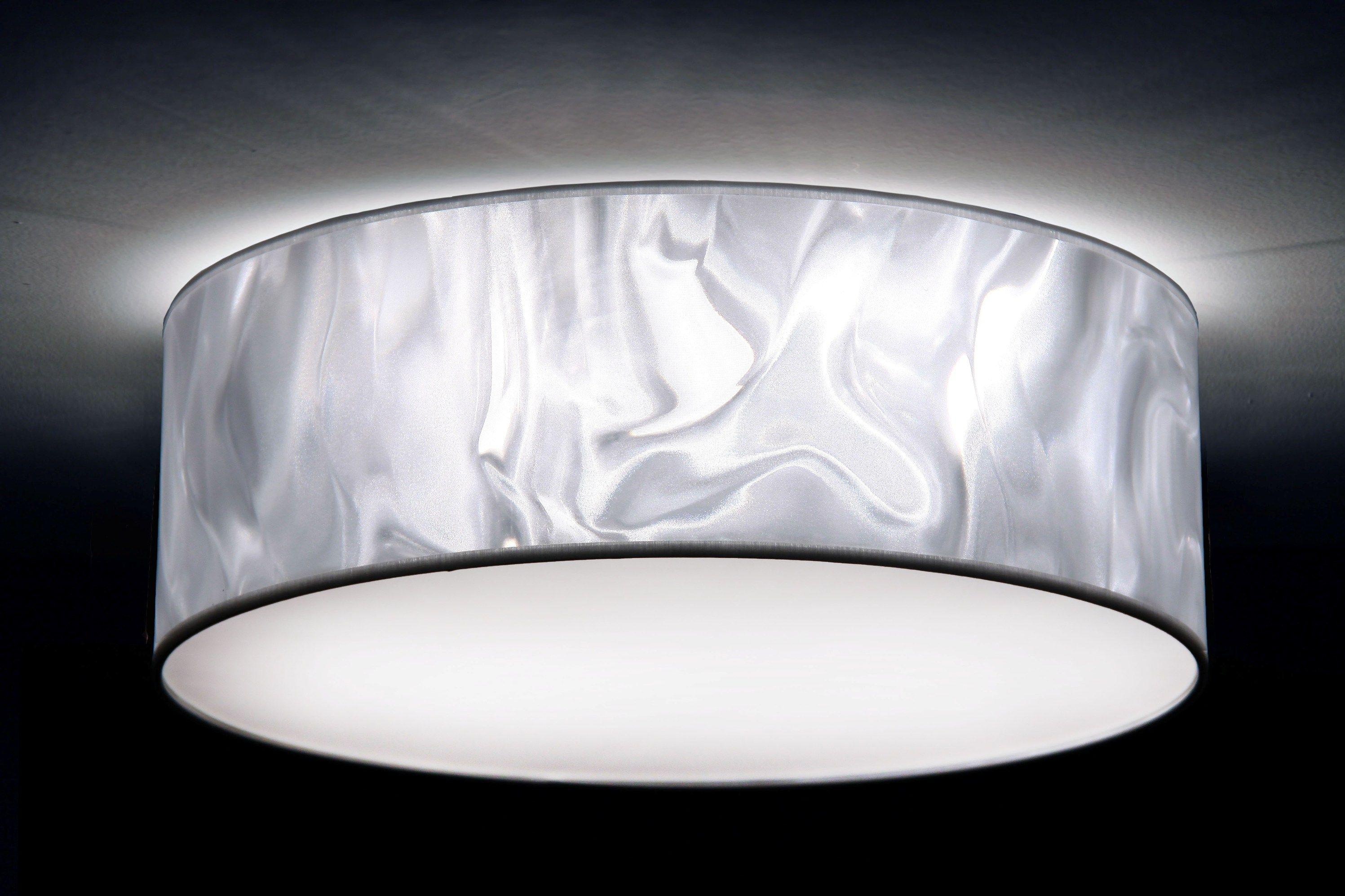 Deckenleuchte In 3d Folie Weiss 3xe27 Unterschiedliche Grossen Von 40 Bis 70 Cm Durchmesser Individuelle Anfertigung Made Deckenlampe Deckenleuchten 3d Folie