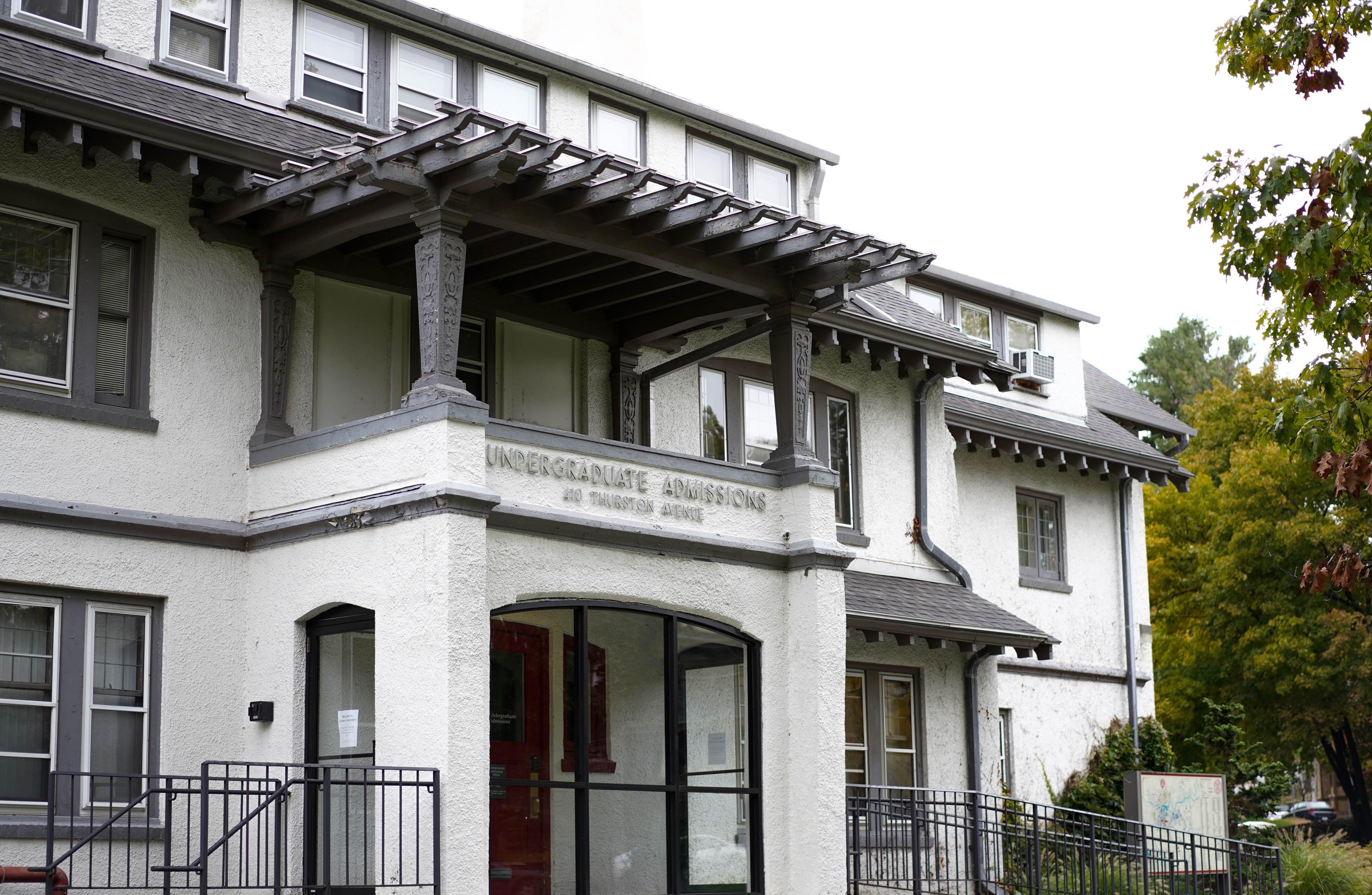Cornell's undergraduate admissions office at 410 Thurston